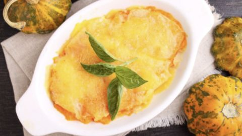 Rezept: Leckeren Kartoffel-Kürbis-Auflauf aus nur fünf Zutaten