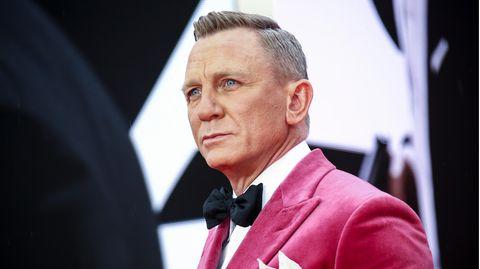 """Hauptdarsteller Daniel Craig auf dem Weg zur """"James Bond""""-Premiere in London."""