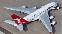 Airbus A380 von Qantas