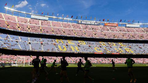 Bald wieder voll besetzt: Das Camp Nou in Barcelona ist mit knapp 100.000 Sitzen das größte Fußball-Stadion in Europa