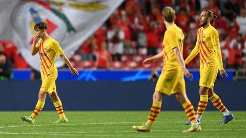 Die Champions-League-Trikots leuchten gelb, aber die in Wahrheit ist die Gegenwart des FC Barcelona mausgrau