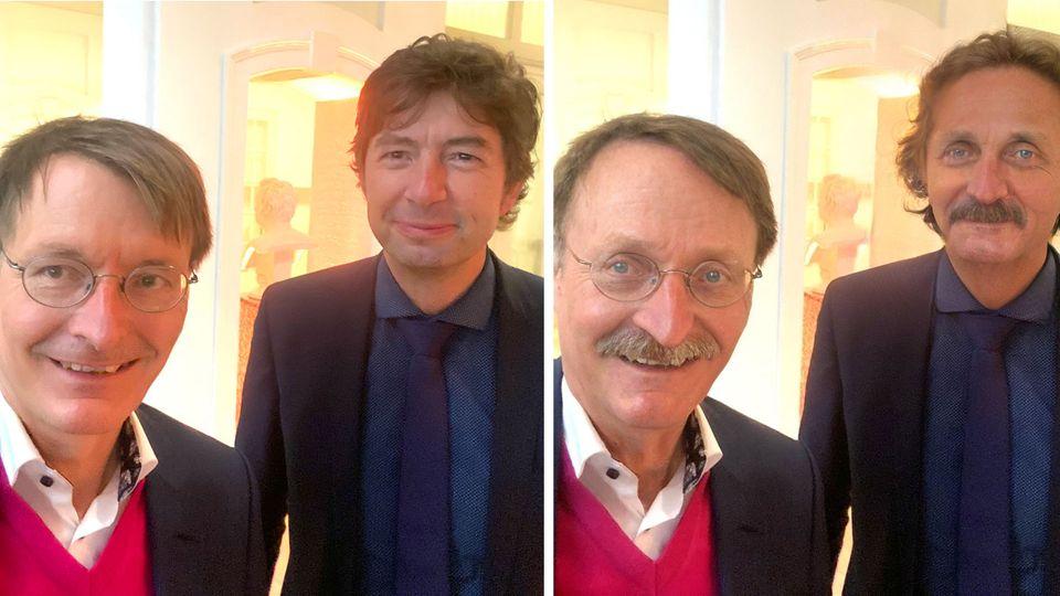 Karl Lauterbach und Christian Drosten posten Selfie, das auf Twitter viral geht