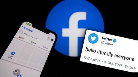Twitter-Reaktionen auf Facebook-Ausfall