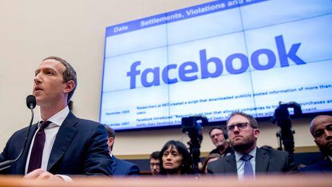 Mark Zuckerberg bei einer Anhörung des House Financial Services Committee