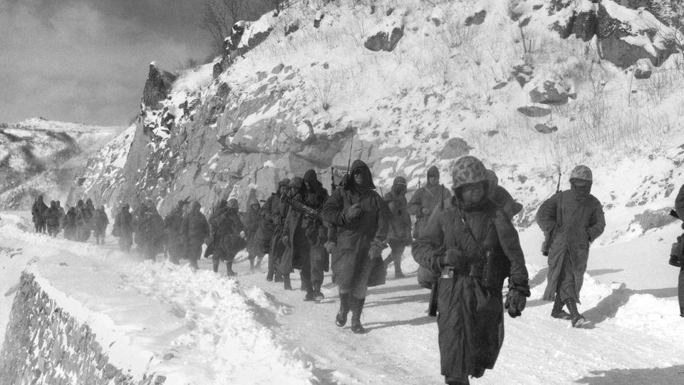 Die Marines mussten sich 100 Kilometer zur Küste zurückkämpfen.
