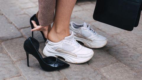 Mehr Standfestigkeit dank bequemer Schuhe.