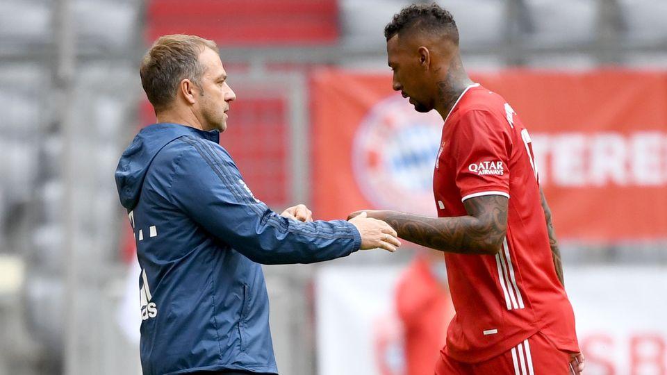 Hansi Flick Jerome Boateng Bayern Munchen 2021