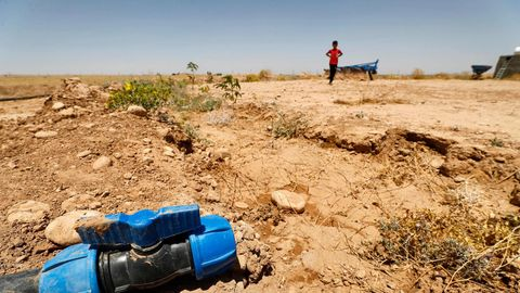 Ausgetrocknetes Feld im Irak, im Juni 2021