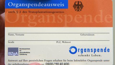 Ein nicht ausgefüllter Organspendeausweis