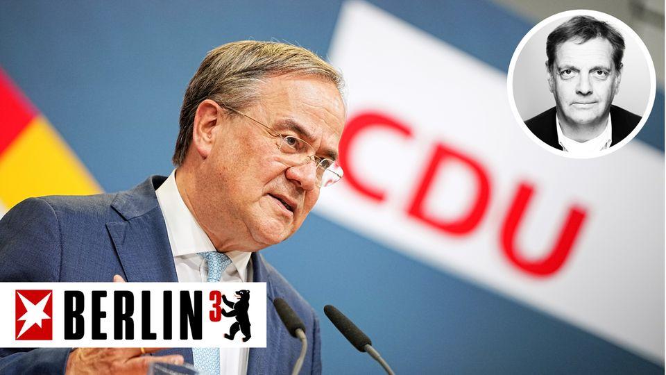 Armin Laschet gibt ein Pressestatement zum Fortgang der Sondierungsgespräche