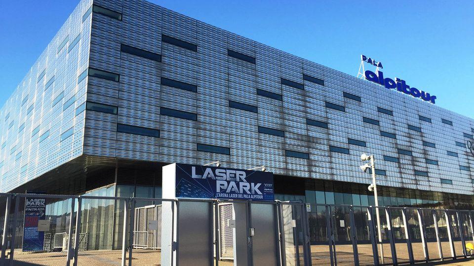Hier findet der ESC statt: die Fassade der Halle in Turin