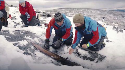 Forscher finden 1300 Jahre alten Ski in Norwegen