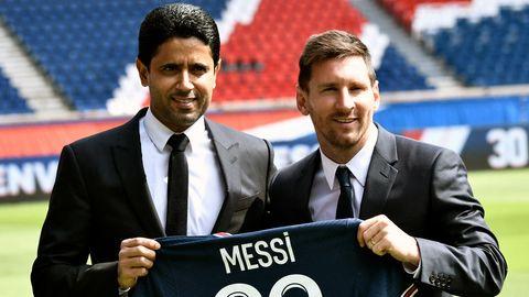 Nasser Al-Khelaifi, Lionel Messi