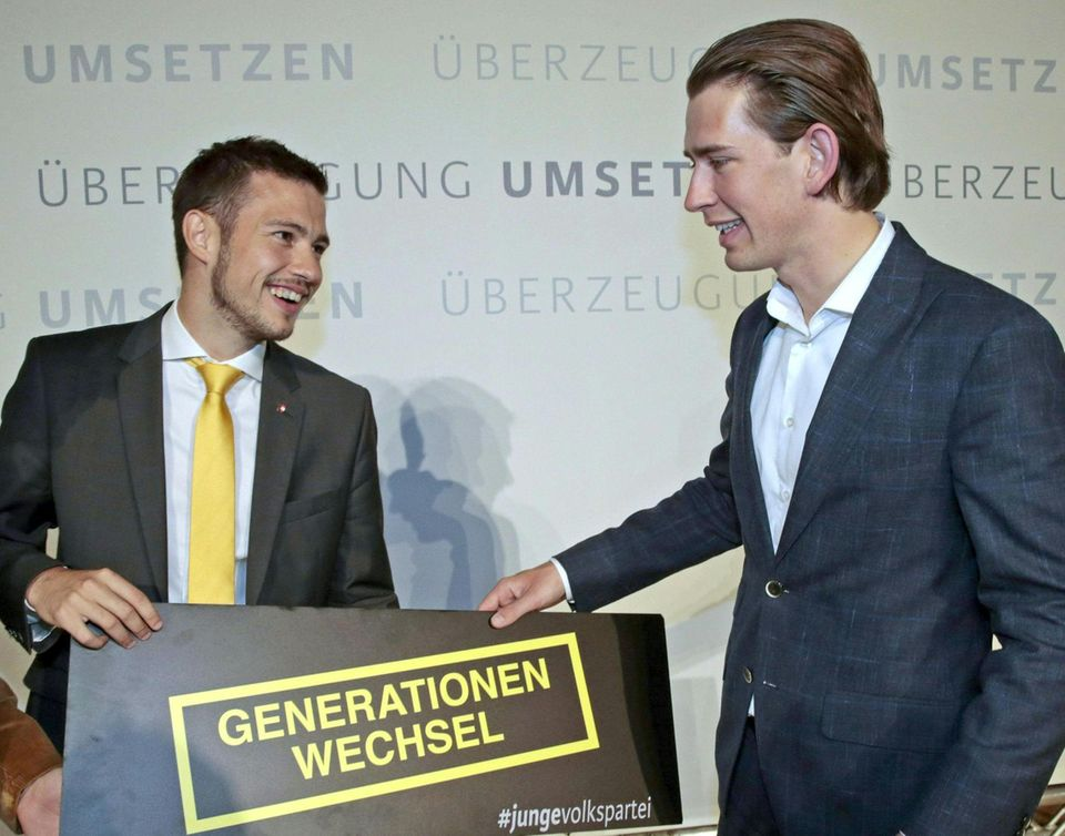 Kurz beim Parteitag der ÖVP, 2014