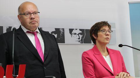 Annegret Kramp-Karrenbauer und Peter Altmaier