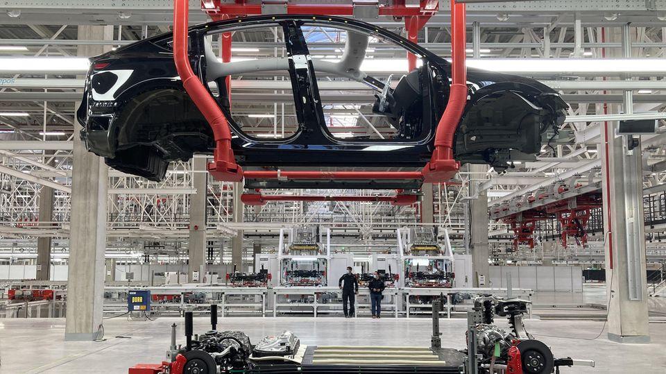 Das Model Y wird in Grünheide gebaut