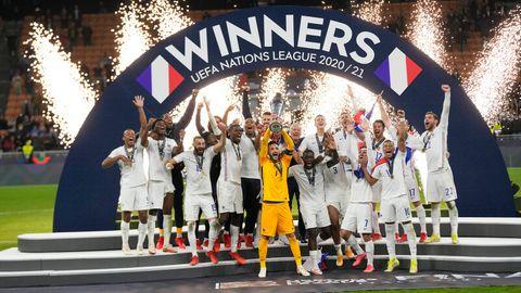 Frankreich feiert den Sieg der Nations League