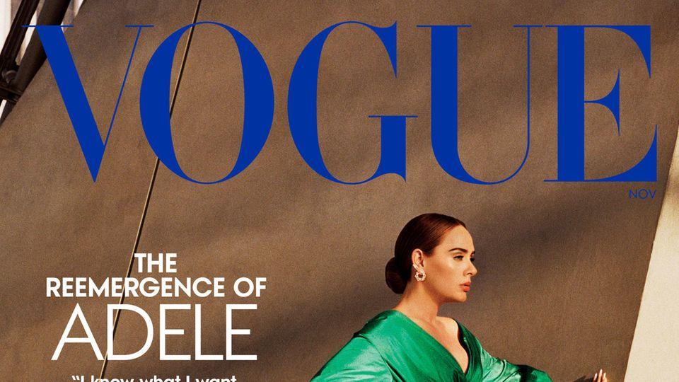 """Das Cover der Zeitschrift """"Vogue"""" mit einem Foto von Adele"""