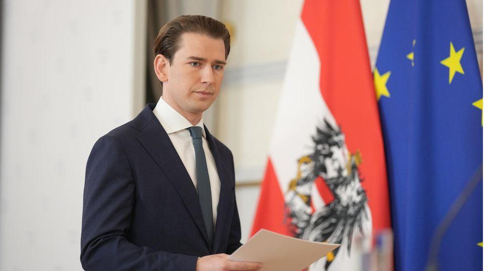 Österreichs ehemaliger Bundeskanzler Sebastian Kurz, der nach Korruptionsvorwürfen zurückgetreten ist