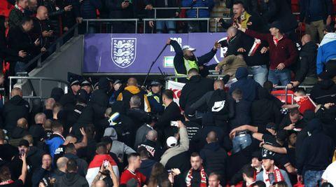 Ungarn Fans Wembley Polizei
