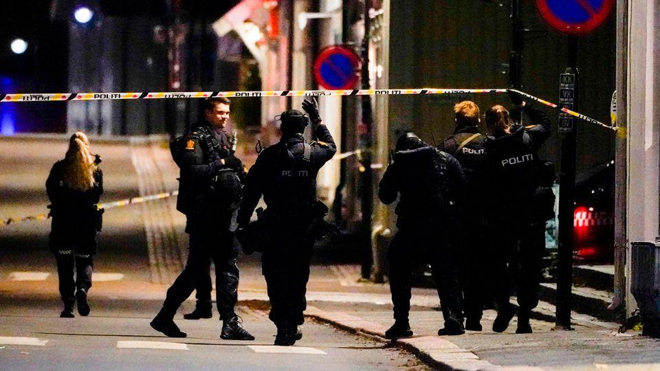 Polizei im Zentrum von Kongsberg