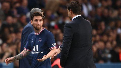 Lionel Messi Mauricio Pochettino PSG