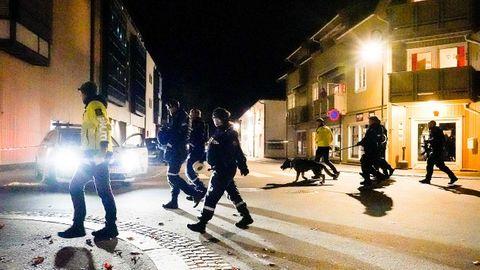Polizisten beim nächtlichen Einsatz