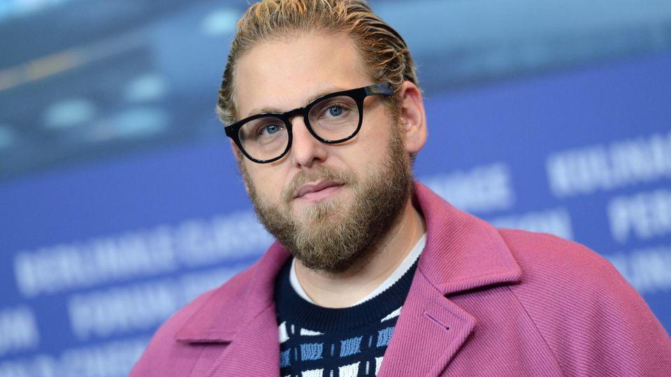 Jonah Hill bei einer Pressekonferenz auf der Berlinale