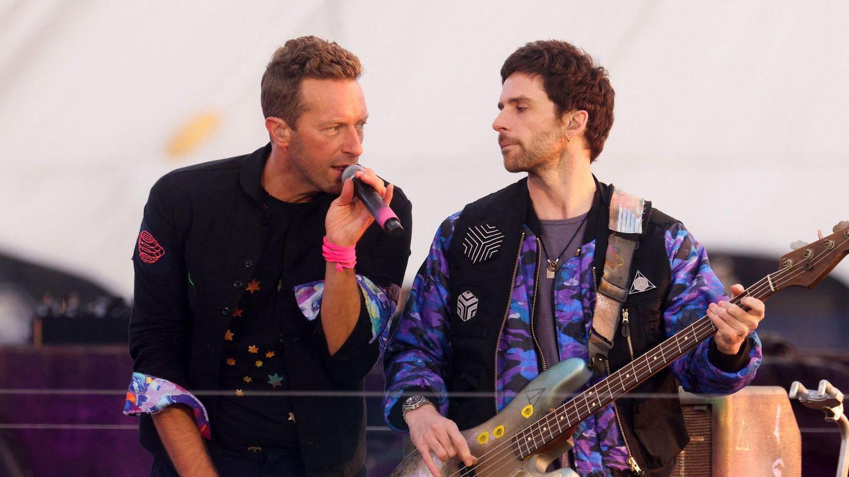Coldplay-Frontmann Chris Martin und Bassist Guy Berryman bei den BRIT Awards 2021 in London.
