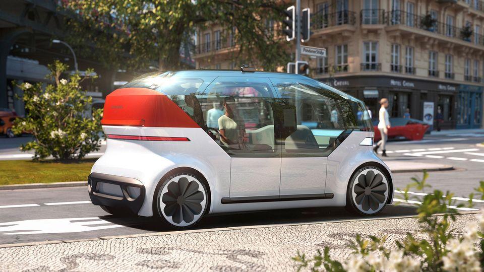 """VWs Elektroauto """"OnePod"""" soll autonomdurch die Stadt fahren"""
