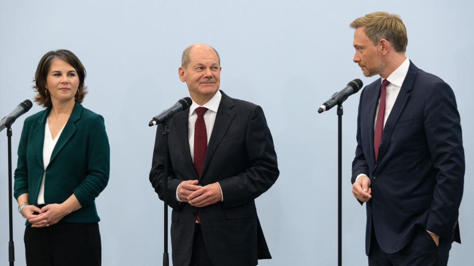 Baerbock, Scholz, Lindner