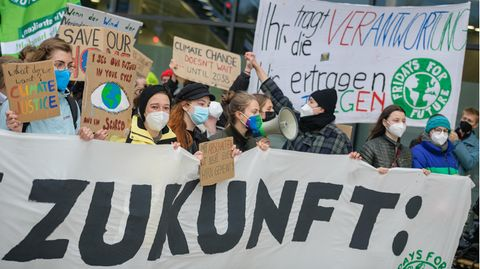 Jugendlicher Klima-Protest in Berlin