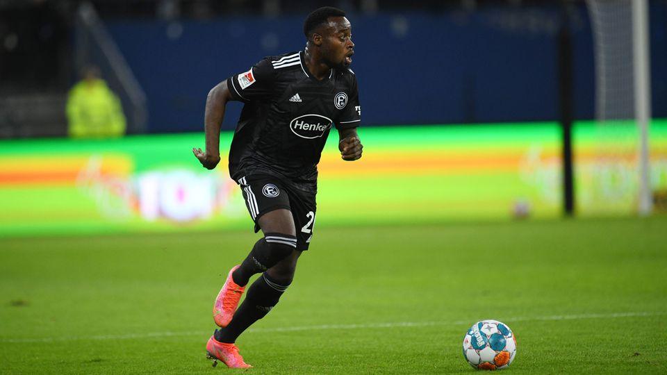 Khaled Narey von Fortuna Düsseldorf im Spiel beim HSV