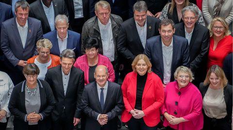 Gruppenbild nach SPD-Fraktionssitzung