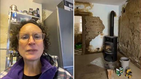 Ahrweiler: Mutter zeigt Haus nach Flutkatastrophe