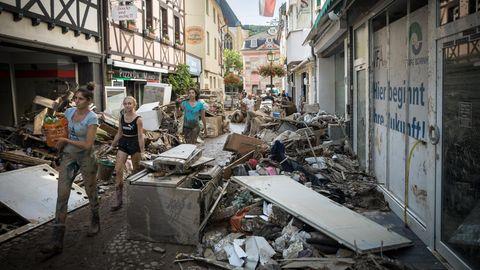 Die Altstadt von Bad Neuenahr-Ahrweiler wurde von den Wassermassen besonders schwer getroffen