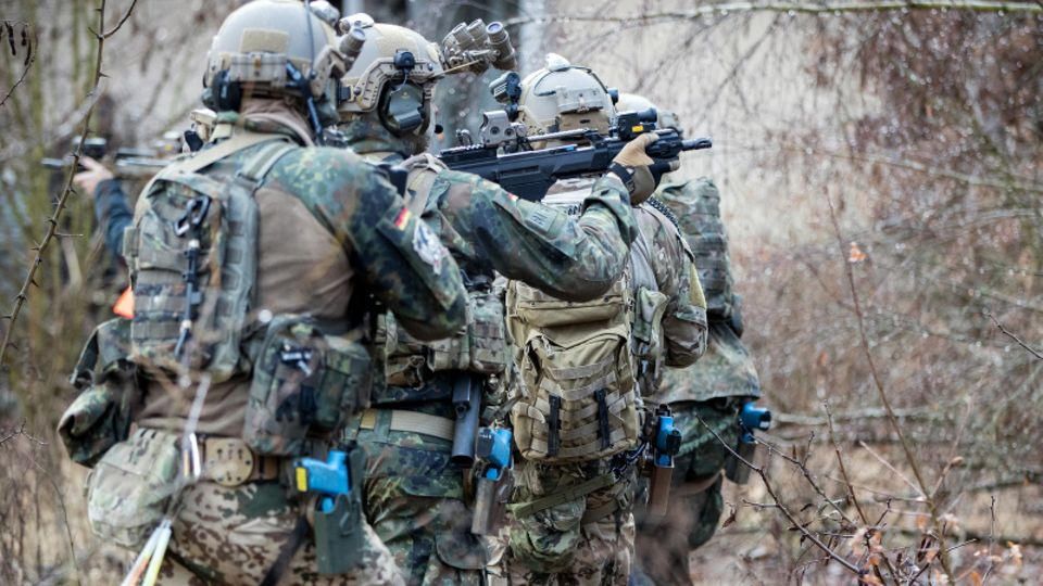 Bundeswehrsoldaten der Eliteeinheit