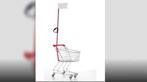 Diese unbekannte Funktion haben die Fahnen an Kindereinkaufswagen in Wirklichkeit