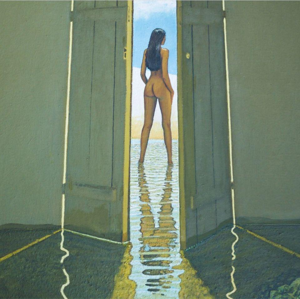 Dieser Akt zeigt, wie virtuos Jan Siebert mit Licht und Reflexionen arbeiten kann.