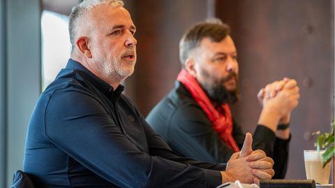 Dirk Zingler und Christian Arbeit