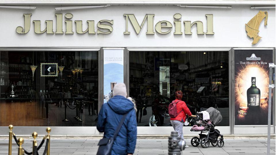 Die Filiale Meinl am Graben in Wien