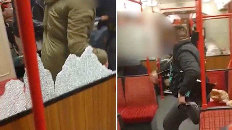 Mann zertrümmert Scheibe in Dortmunder Stadtbahn – Baby wird offenbar von Scherben verletzt
