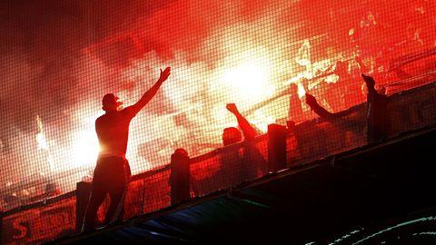 Union-Berlin-Fans beim Spiel gegenFeyenoord in Rotterdam