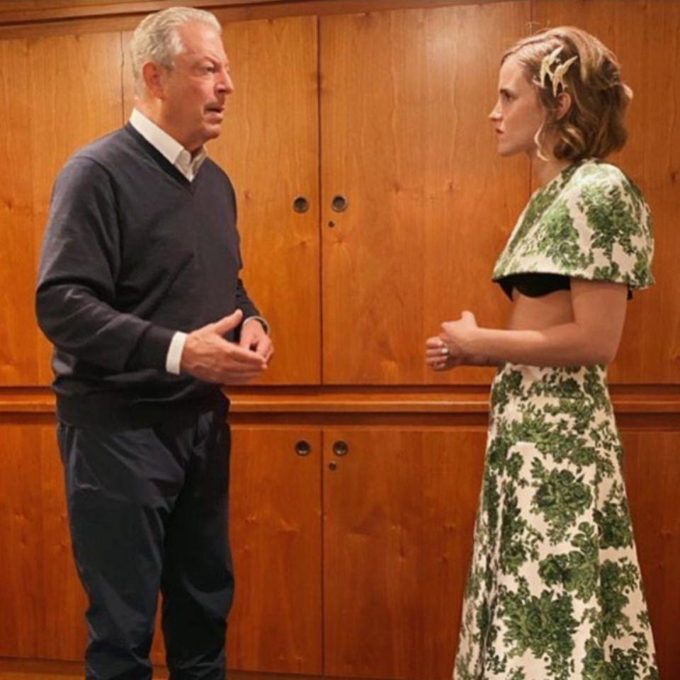 Vip News: Emma Watson trifft Al Gore – und wird für ihr Outfit kritisiert