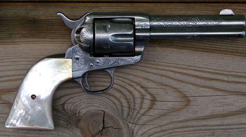 Alec Baldwin feuerte einen Revolver wie diesen ab