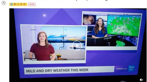 Screenshot des in Washington ansässigen Senders KREM2