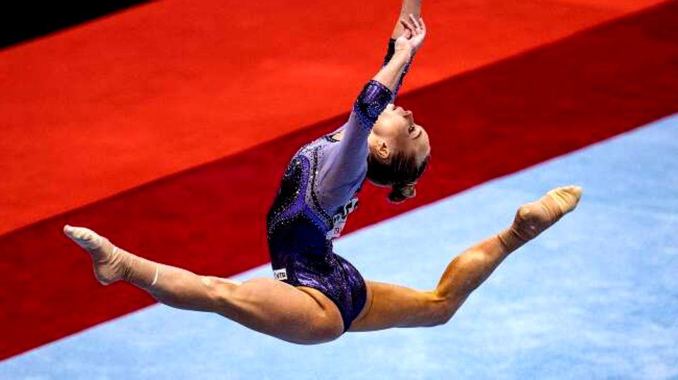 Turn-WM: Am Ende macheAngelina Melnikowa das Rennen.