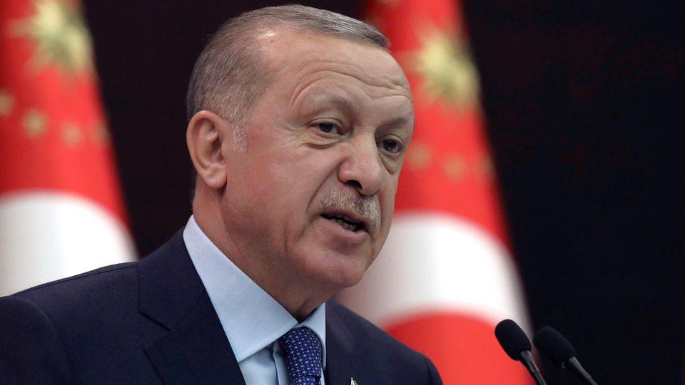 """""""Wir können nicht den Luxus haben, sie in unserem Land willkommen zu heißen"""": der türkische Präsident Recep Tayyip Erdogan"""