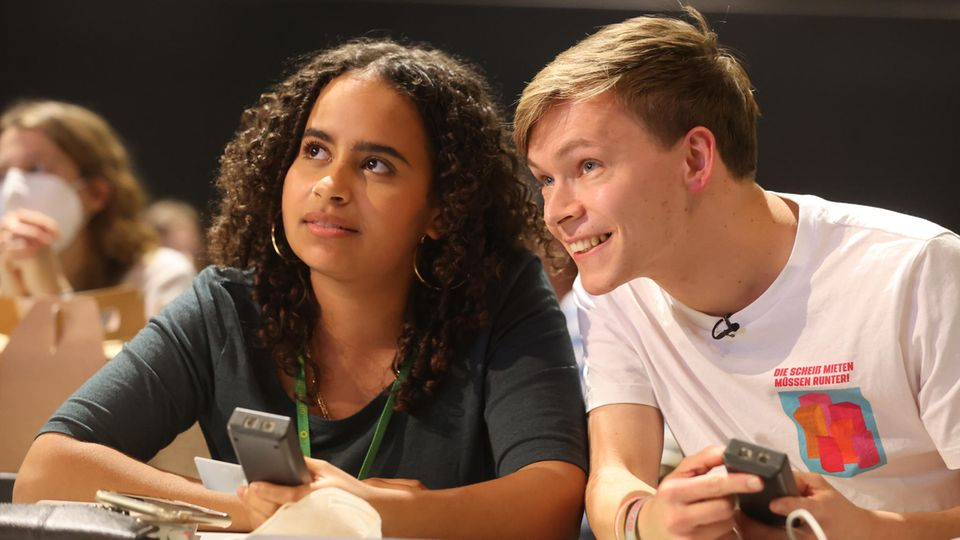 Grüne-Jugend-Chefs Sarah-Lee Heinrich und Timon Dzienus