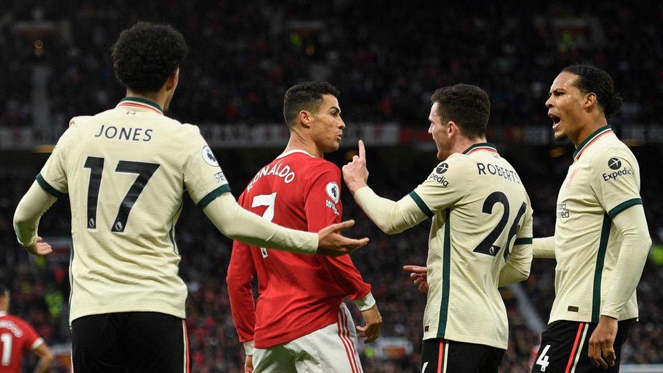 Manchester United bei der 0:5 Niederlage gegen Liverpool.